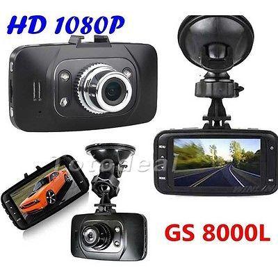 HD 1080P Car DVR Vehicle Camera Video Recorder Vehicle Carcorder Dash Cam G-sensor HDMI GS8000L Car recorder DVR