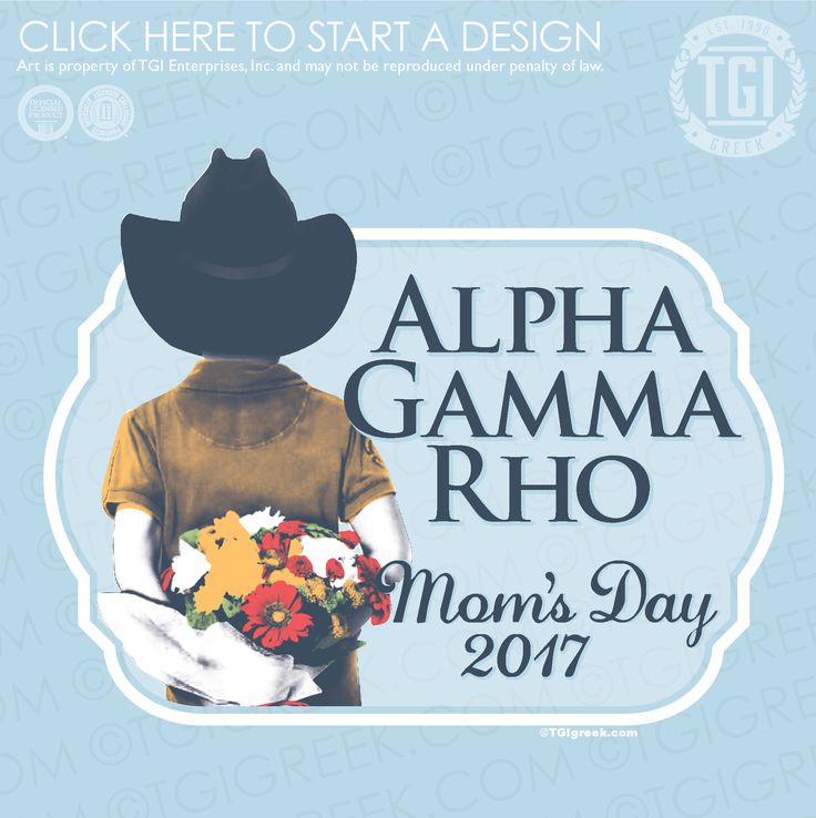 Alpha Gamma Rho | ΑΓΡ | Mom's Day | TGI Greek | Greek Apparel | Custom Apparel | Fraternity Tee Shirts | Fraternity T-shirts | Custom T-Shirts