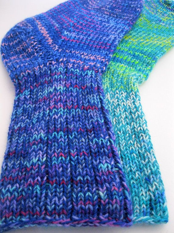 Hand Knitted Socks, Handmade extra thick socks by SpacefrogSocks