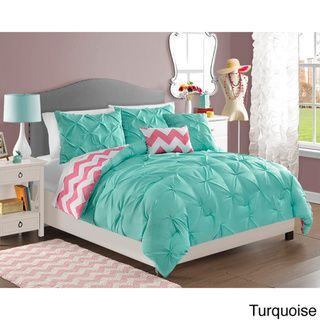 Chelsea 4-piece Reversible Comforter Set | Overstock™ Shopping - The Best Prices on Kids' Comforter Sets