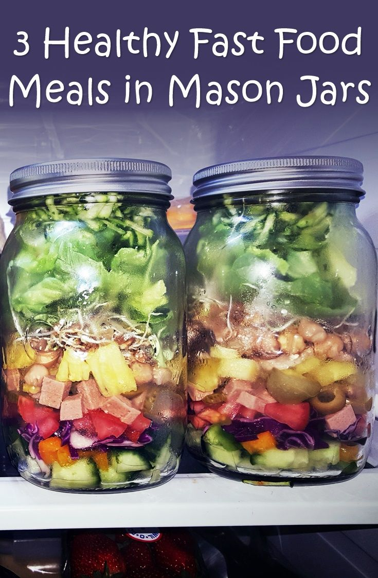 3 Healthy Fast Food Meals in Mason Jars - If you are tired and hungry, it's so nice to pop a lid off a jar and heat up a tasty, nutritious and filling meal in less than five minutes, without worrying about all of those nasty additives that a store-bought can of soup would contain.