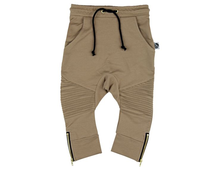BIKER JOGGERS - BROWN SUGAR – Little Villains Clothing Pty Ltd