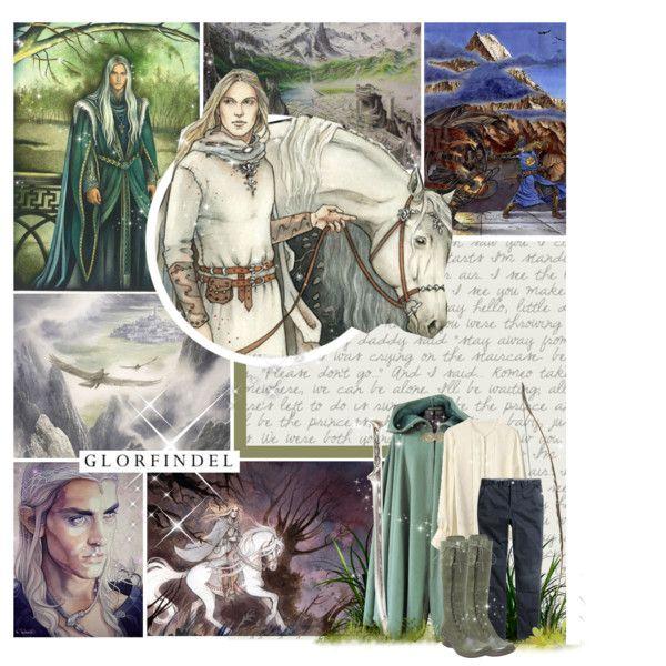 Glorfindel from Gondolin by lejournaldessecrets on Polyvore featuring Keita Maruyama, H&M, Miz Mooz, lordoftherings, Thelordoftherings, elves, tolkien and glorfindel