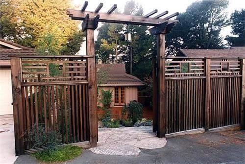 Asian Fence Design  Tropical Landscaping  Goodman Landscape Design  Berkeley, CA