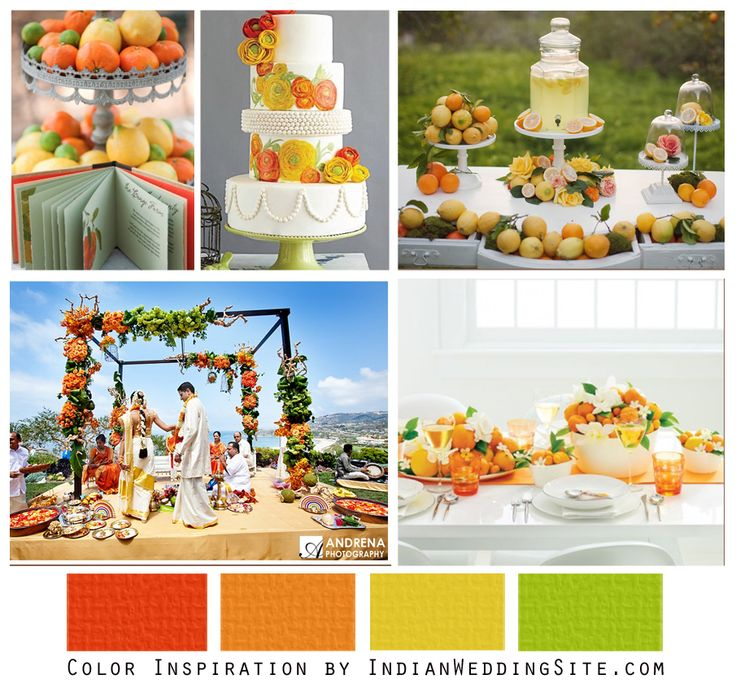 Citrus Orange And Yellow Indian Wedding Color Inspiration