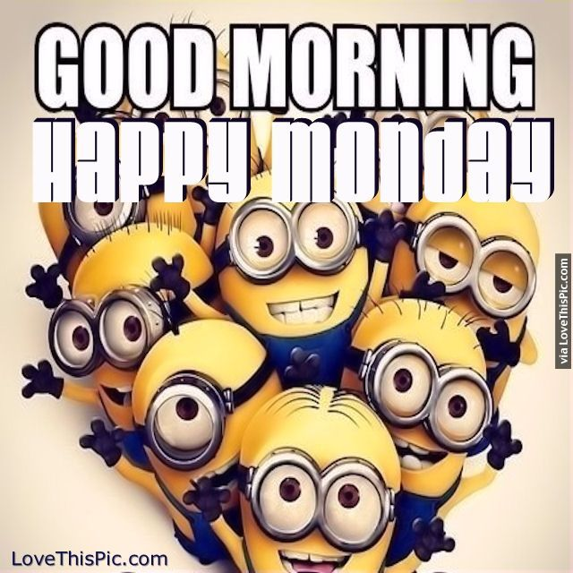 Good Morning Happy Monday Minions Pictures, Photos, and ...