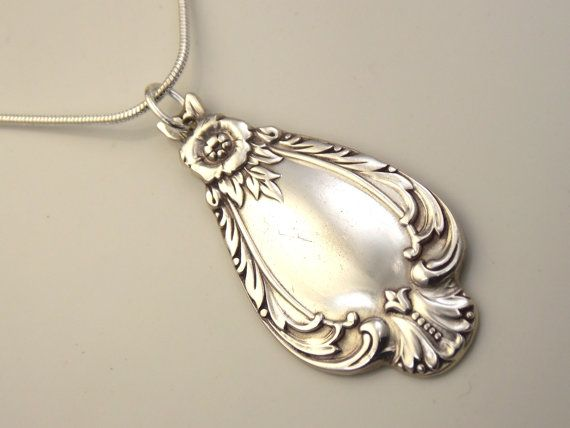 Spoon Necklace Hand SCULPTED Silver Pendant Spoon by SimplySilverr, $16.25