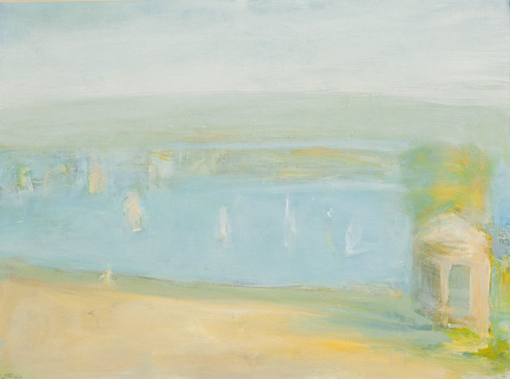 boats in the bay - lloyd rees