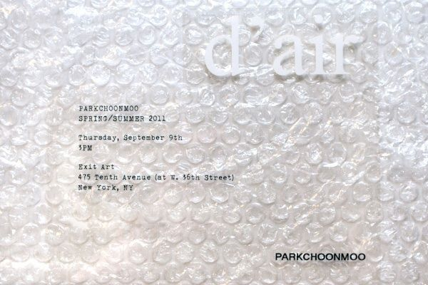 Parkchoonmoo:  The invite is almost as weird as the name of the label. But, hey, the bubble wrap is real fun to poppity-pop!