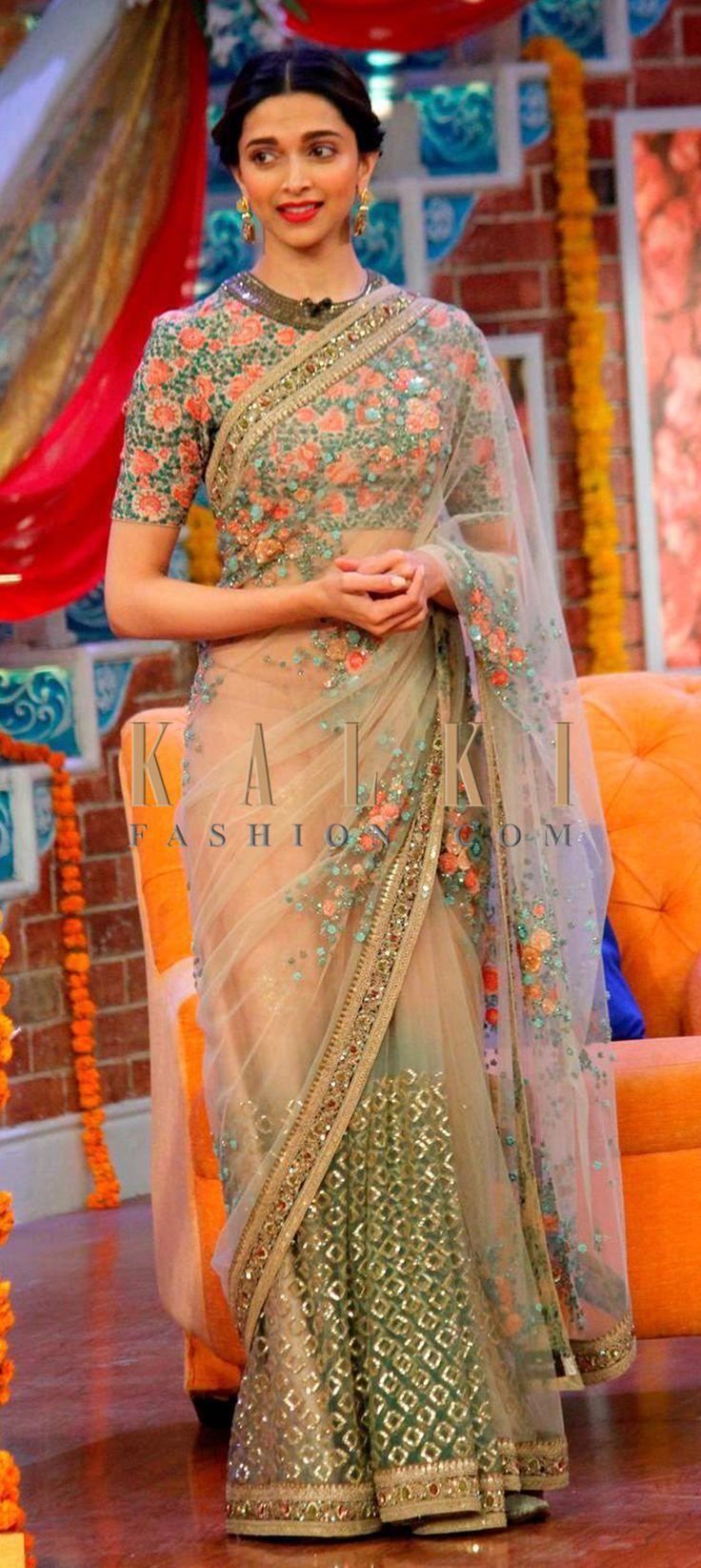 Deepika in a beautiful saree