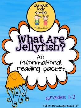 """What Are Jellyfish?"" is part of my ©Curious Kids series that presents informational text in a fun way! Kids will learn all about jellyfish by reading an original text written by me presented in a printable book filled with facts and nonfiction text features."