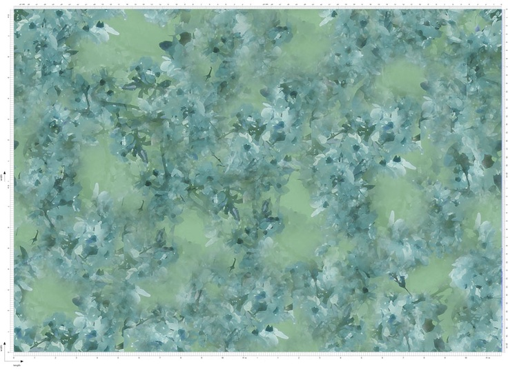 Fabric Blossom Print By Amber Middaugh