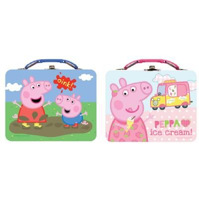 Lunch Box Peppa Pig Metal Tin - from Hobby Hunters -