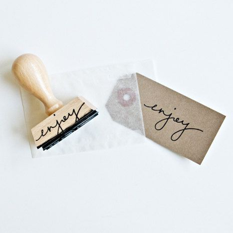 Hey, I found this really awesome Etsy listing at https://www.etsy.com/listing/94459833/enjoy-rubber-stamp-hand-lettered-rubber
