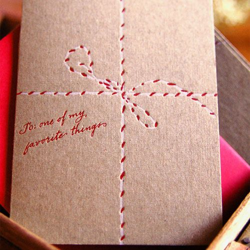 like this letterpress card
