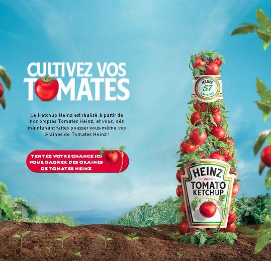 Participez au jeu concours instant gagnant Heinz et tentez de gagner l'un des 10′000 paquets de graines de tomates Heinz.