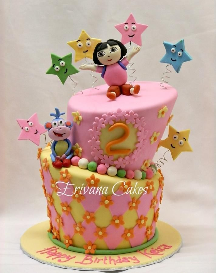 22 best Cakes images on Pinterest Dora cake Birthday party