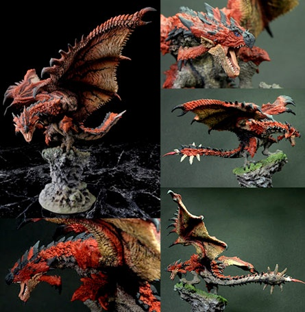 Rathalos from the game Monster Hunter, in statue form. (aka Liolaeus in the Japanese version)