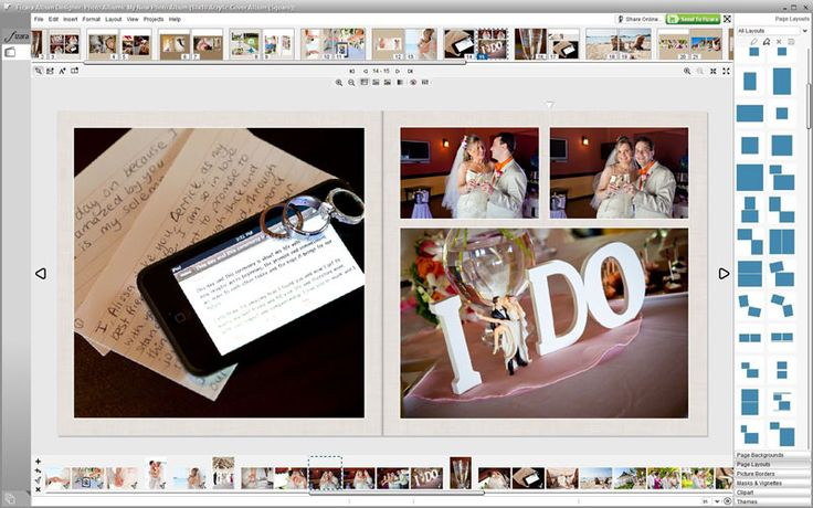 32 best diy wedding album design images on pinterest wedding a balanced symmetrical layout helps the photos in your do it yourself diy solutioingenieria Images