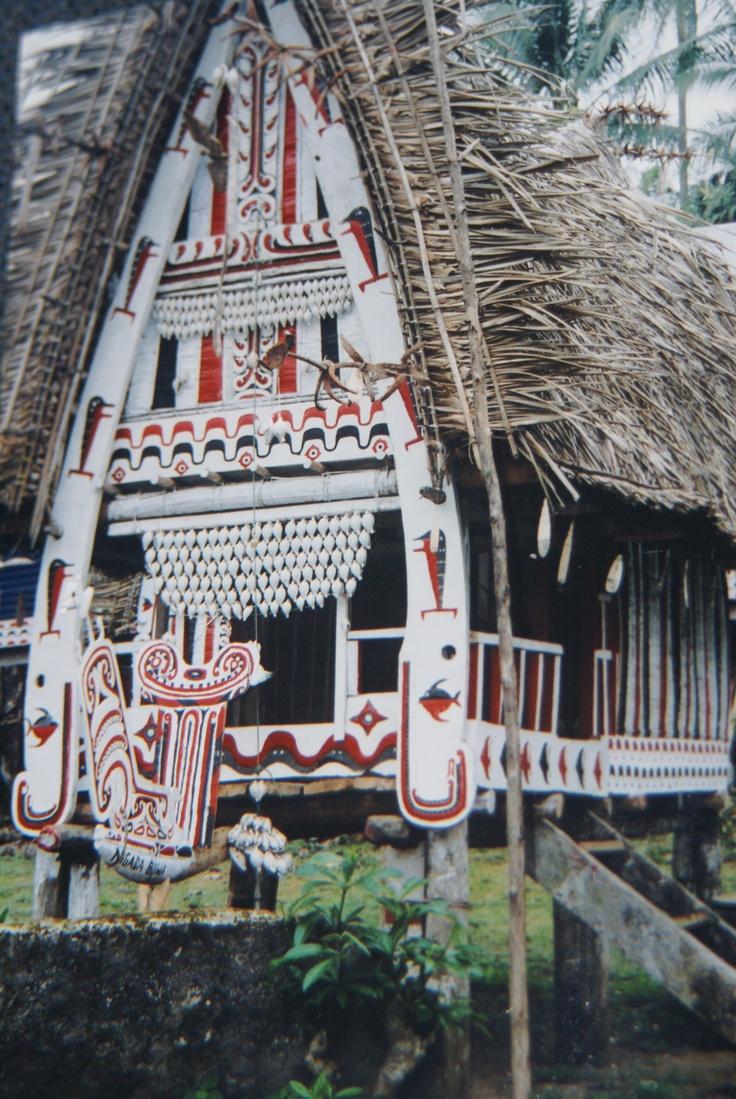 Trobriand Island House, Kula ring Trade Route, Massim region, Melanesia.