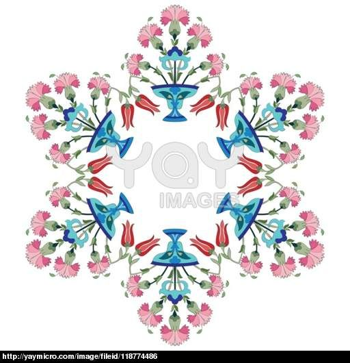 ottoman carnations and tulips version
