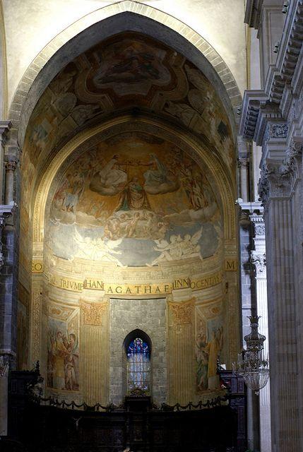 Catania, Piazza Duomo, Duomo di Sant'Agata, Hauptapsis (main apse)