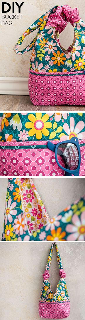 Sew this floral, slouchy quilted bag to hold all your essentials.