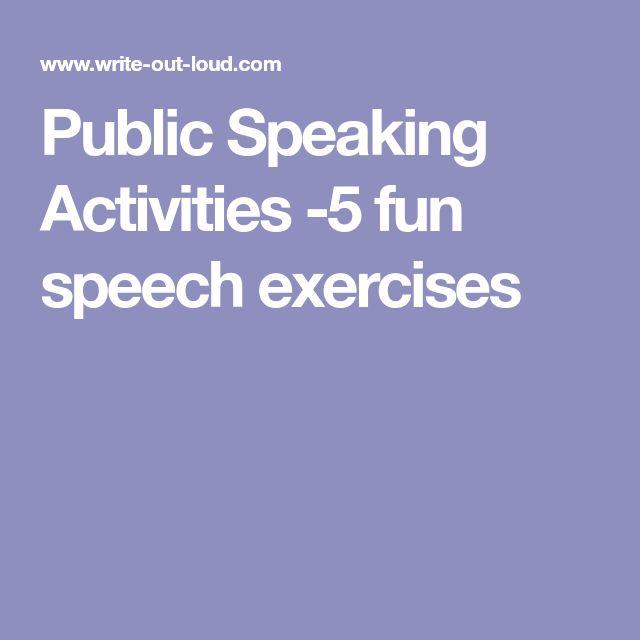 Public Speaking Activities -5 fun speech exercises