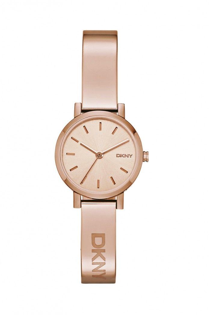 Piękny prosty zegarek w kolorze różowego złota <3