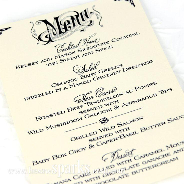 html side menu bar template - 17 best images about menu etsy on pinterest wedding