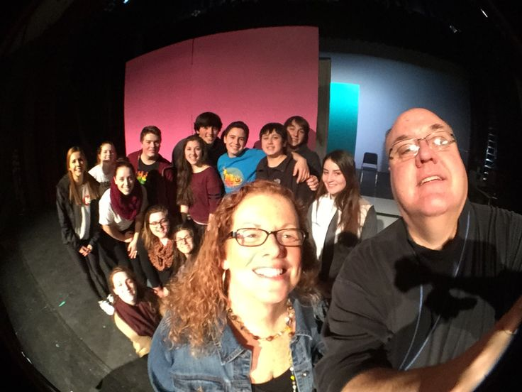 """Meeting director Ann Ferraro and some of the cast and crew of """"Legally Blonde"""" at Somers before the snow flies. Show is at 7:30 p.m., March 13, 14; 2 p.m., April 15—$12, $10 students and seniors—914-248-8585. #2015artsselfie"""
