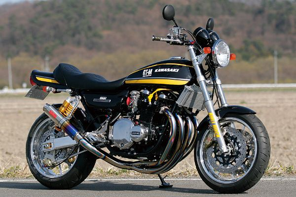 Kawasaki Z1 ..This is the one I purchased,same color,only Kirker Header.(black) Strong bike.