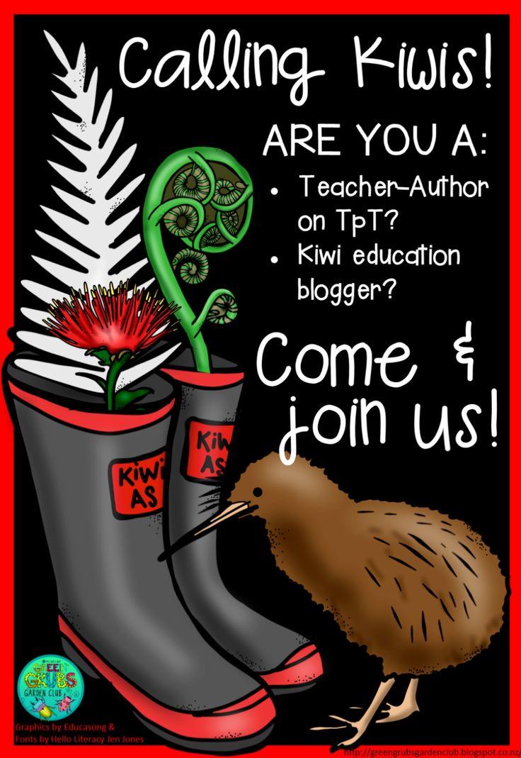 Green Grubs Garden Club: Kiwi Educators - where are you?! (Bloggers, Businesses & TpT Teacher-Authors)