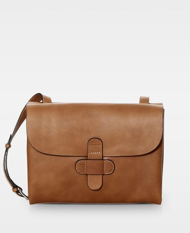 DECADENT Twin side cross body bag - Cognac