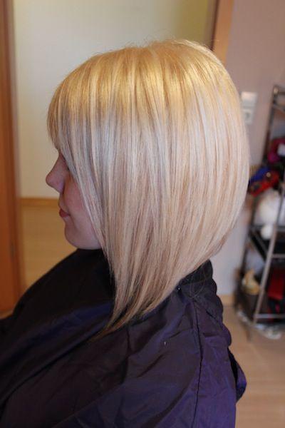 blonde on A-line bob | HAIR | Pinterest | Bobs, Longer bob ...