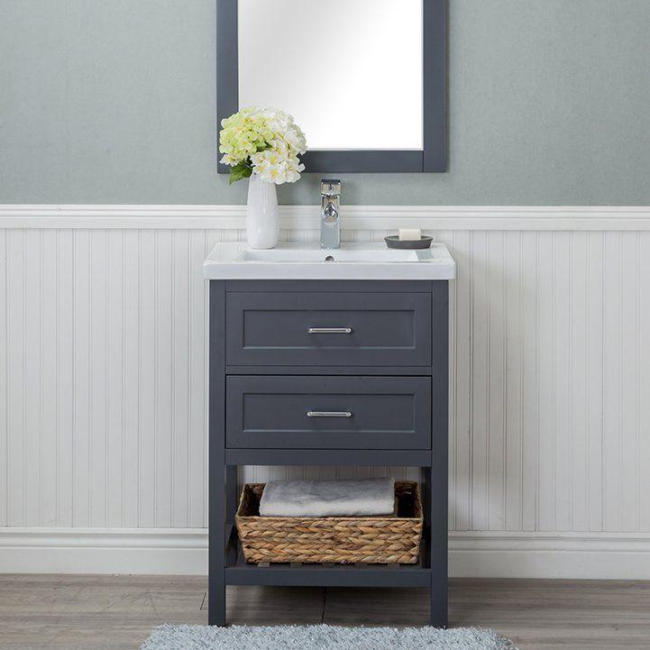 Hagins 24 Single Wood Bathroom Vanity, New Bathroom Cabinets Cost
