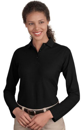 Port Authority Women's Wrinkle Resistant Long Sleeve Polo Shirt $14.95