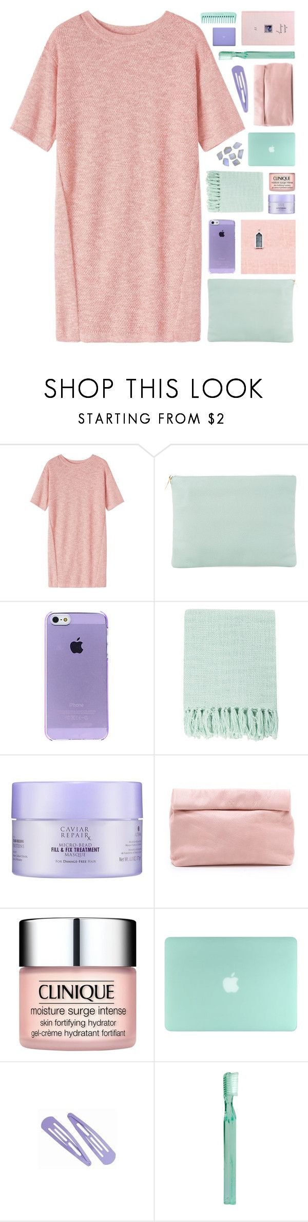 """""""sweetie pie..."""" by cinnamon-and-cocoa ❤ liked on Polyvore featuring Toast, Meli Melo, Surya, Alterna, Marie Turnor, Clinique, Supersmile and MAC Cosmetics"""
