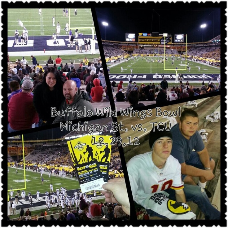 Just wanted to send a quick note of THANKS for a fun night at the Buffalo Wild Wings Bowl! Everyone had a great time and we really enjoyed the game. Your donation was greatly appreciated!! Thank you so much!    Currently Serving  Posted by Troy on Dec 30th 2012  Event Attended: 2012 Buffalo Wild Wings Bowl...TCU Horned Frogs vs Michigan State Spartans  Event Location: Tempe, AZ  Event Date: Dec 29th 2012