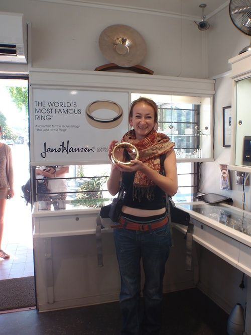 """A tour of Middle Earth isnt complete until you hold the """"One Ring"""" at our Studio in Nelson"""