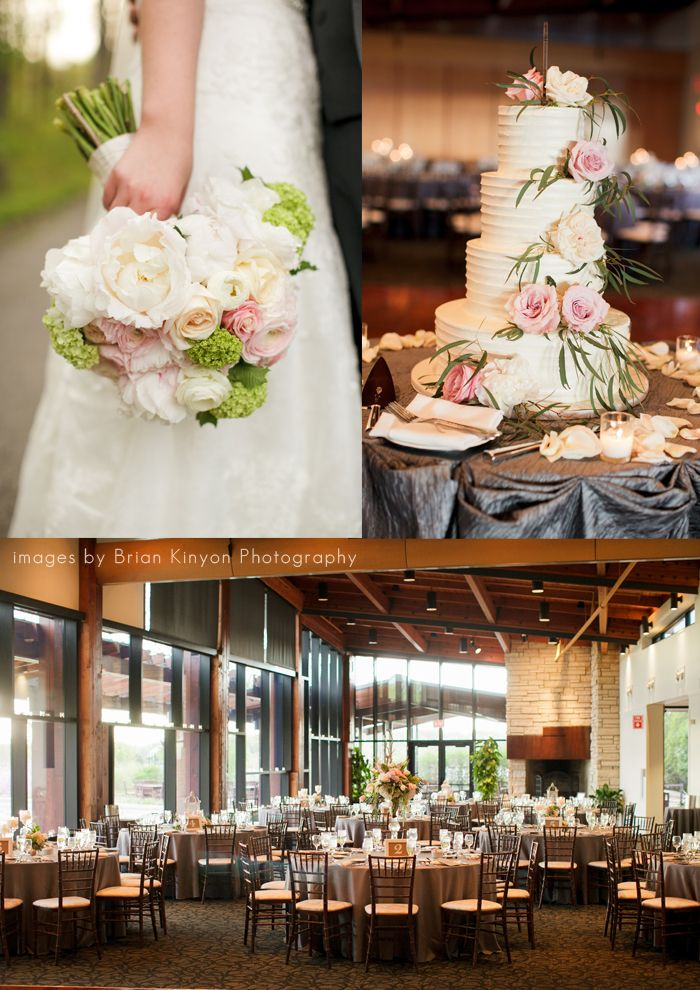 Pink, White and Green Branch Wedding   Independence Grove Wedding   Libertyville Wedding Florist