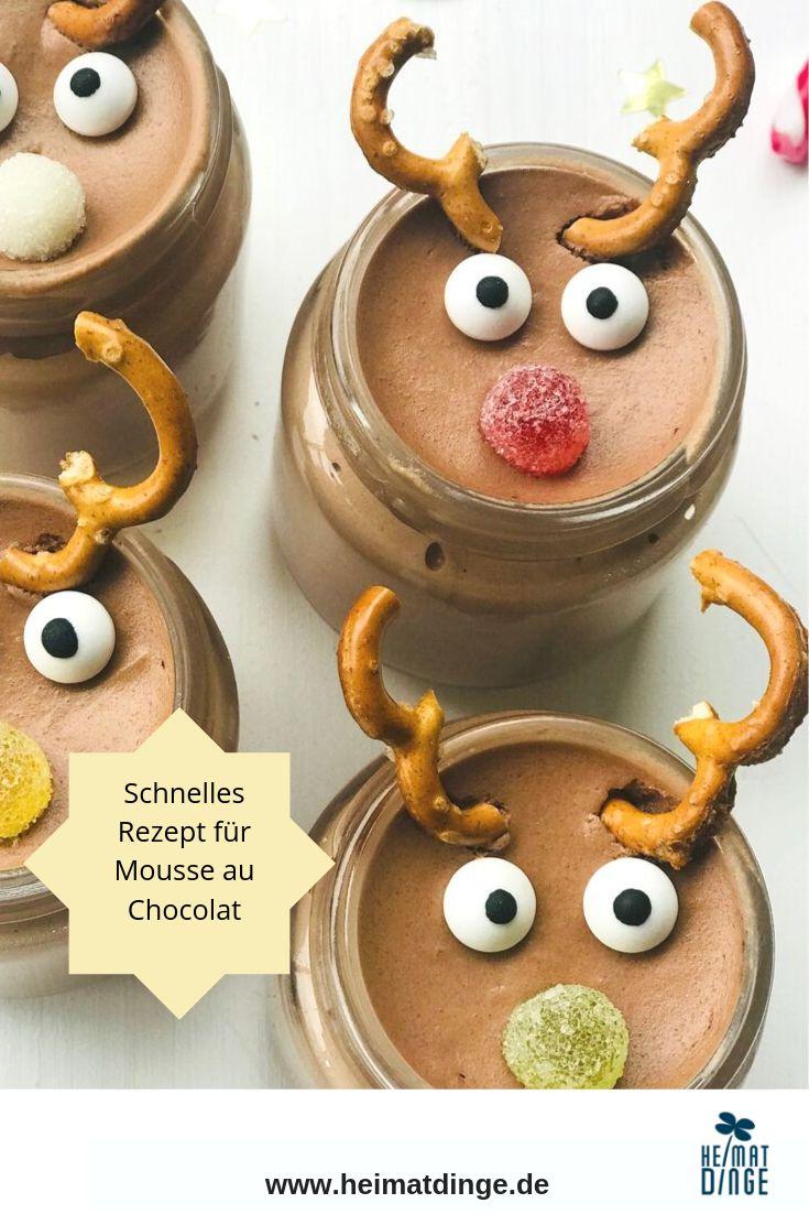 Weihnachtsdessert im Glas: leckeres Rezept Rudolph Mousse au Chocolat – heimatdinge