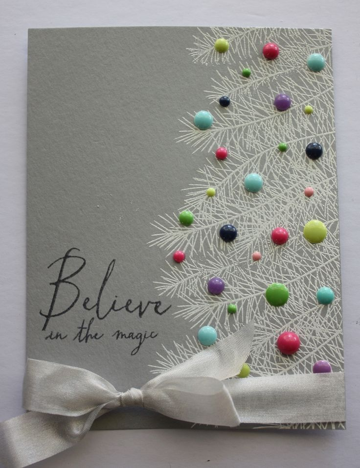 This would look good with the Pine Bough Embossing Folder on a card!