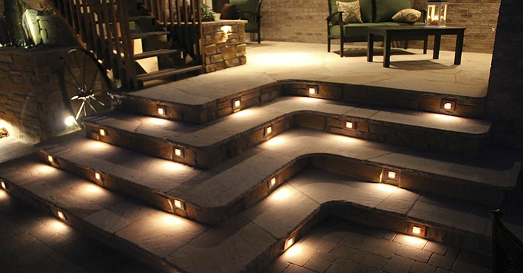 Step lights for concrete jonathan steele outdoor lighting concrete steps best ideas about led step lights on aloadofball Gallery