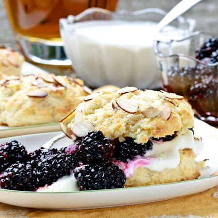 Blackberry Bourbon Shortcakes with Whiskey Cream (GIVEAWAY) | A Spicy Perspective