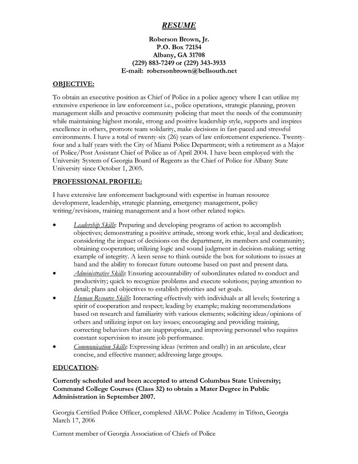 Resume For Police Officer Job Cover Letter Correctional Sample