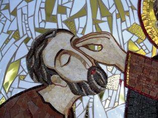 La guérison de l'aveugle - Chapelle Redemptoris Mater - Marko Rupnik