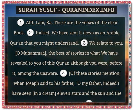 Browse, Read, Listen, Download and Share #Surah Yusuf [12] @ https://quranindex.info/surah/yusuf #Quran #Islam