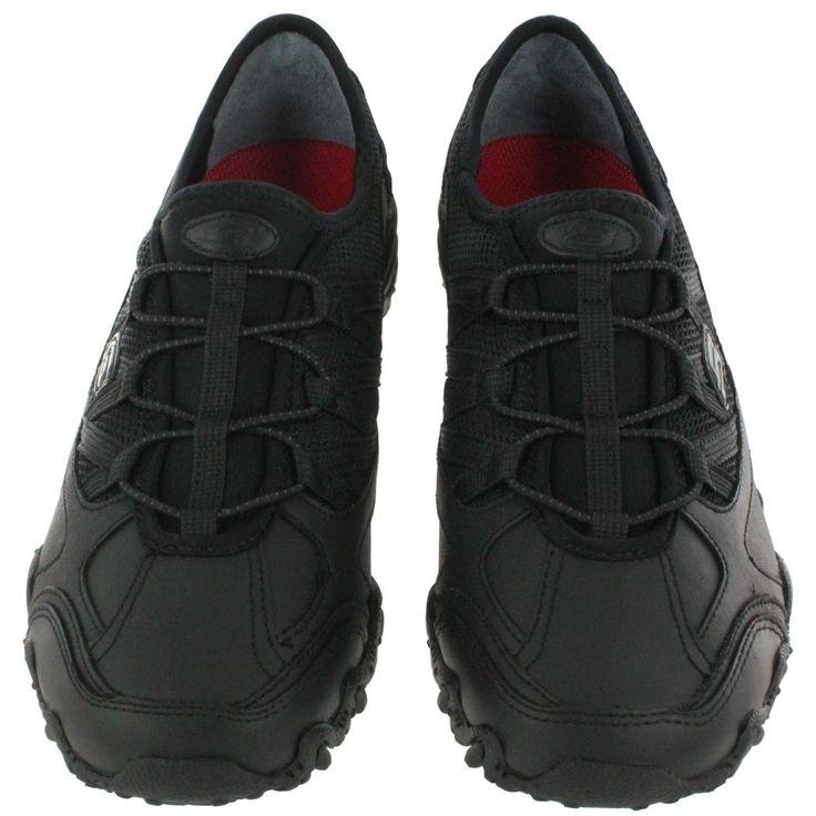 Skechers Work Womenu0027s COMPULSIONS INDULGENT Non Slip Work Shoes 76510 BLK