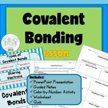 Ms de 25 ideas increbles sobre hoja de trabajo sobre uniones covalent bonding lesson urtaz Gallery